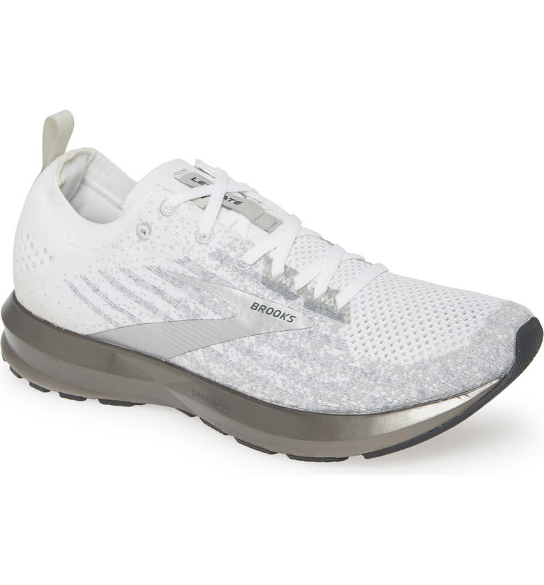 BROOKS Levitate 3 Running Shoe, Main, color, WHITE/ GREY/ SILVER
