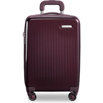 Briggs & Riley Sympatico 21-Inch Expandable Wheeled Carry-On - Purple