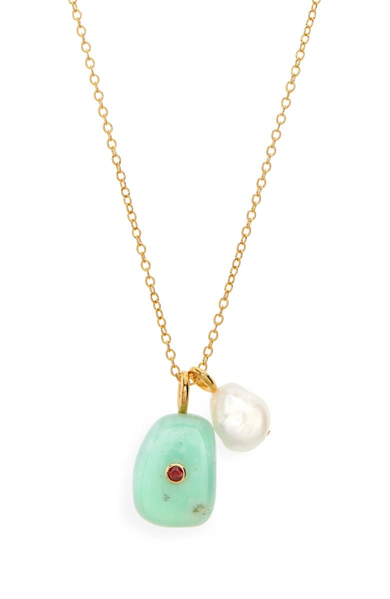 LIZZIE FORTUNATO Oasis Necklace, Main, color, GREEN