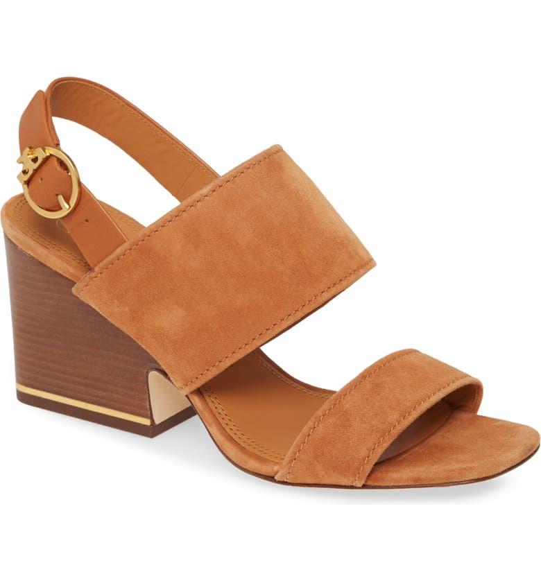 TORY BURCH Selby Block Heel Sandal, Main, color, AMBRA