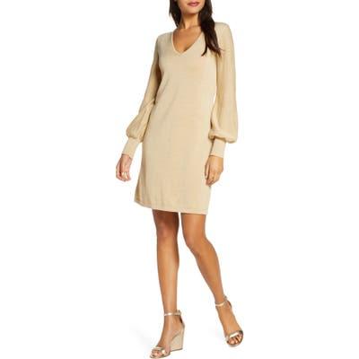 Lilly Pulitzer Sariya Long Sleeve Sweater Dress, Metallic