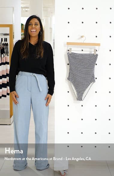 The Madeline Gingham One-Piece Swimsuit, sales video thumbnail