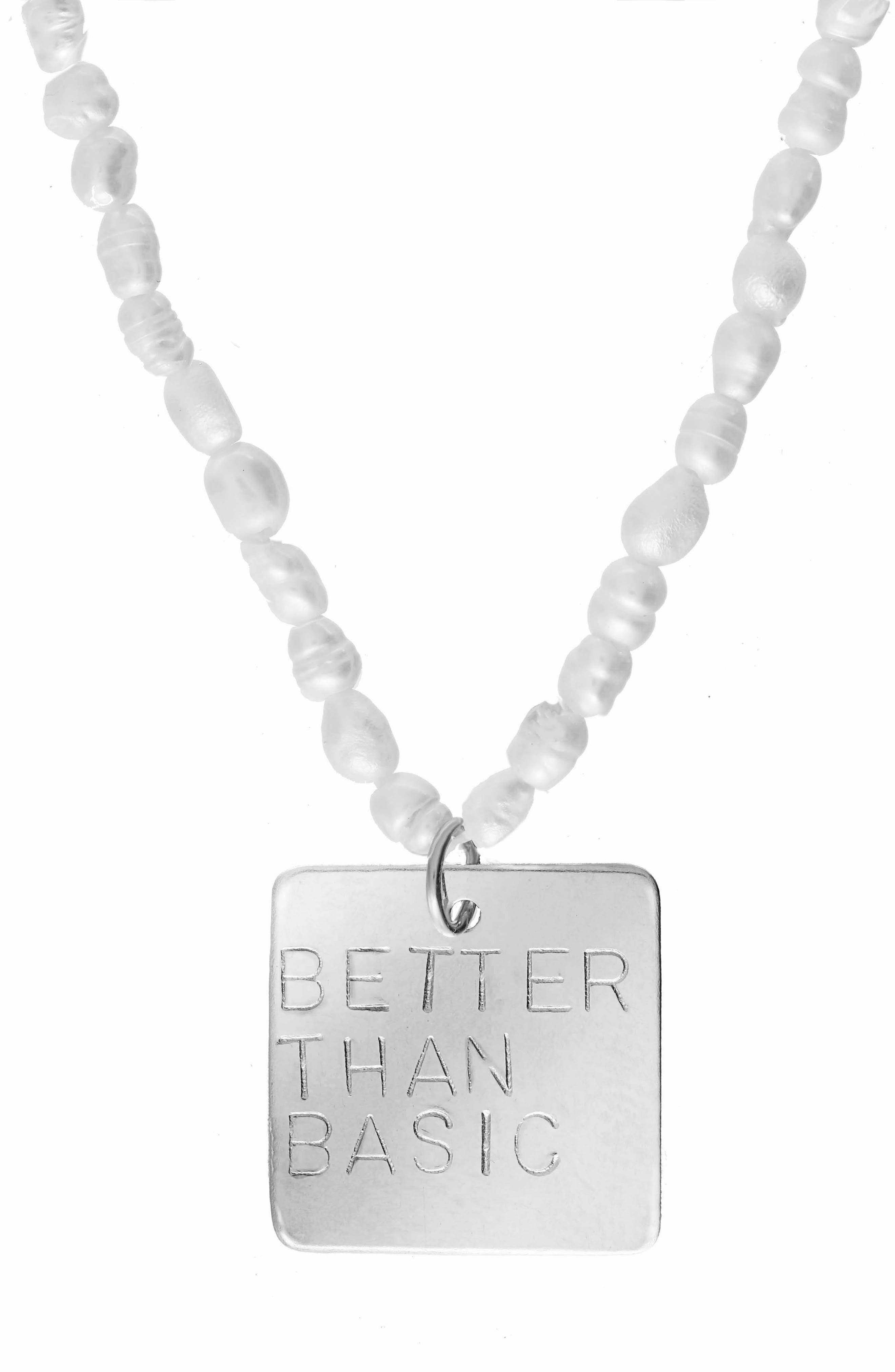 Better Than Basic Freshwater Pearl Pendant Necklace