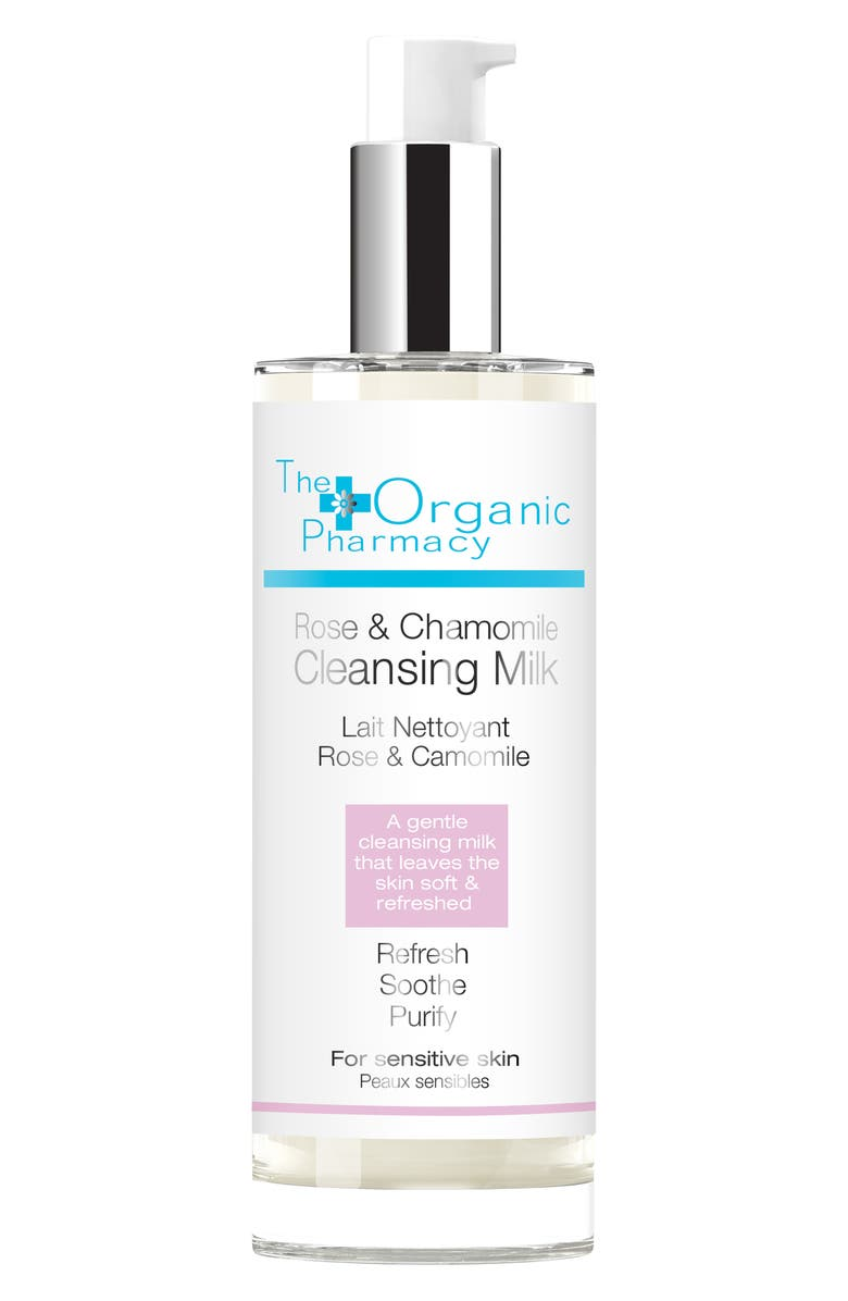 THE ORGANIC PHARMACY Rose & Chamomile Cleansing Milk, Main, color, NO COLOR