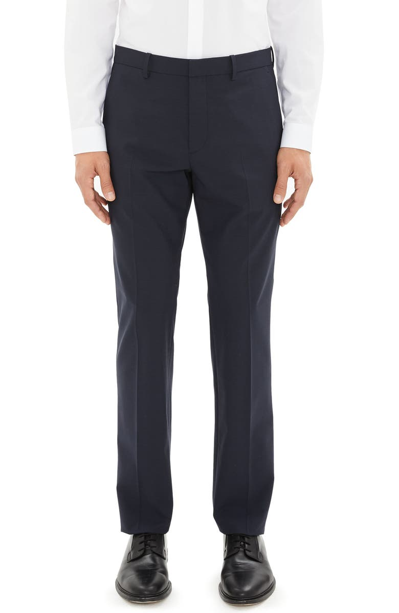 THEORY Mayer New Tailor 2 Wool Dress Pants, Main, color, NAVY