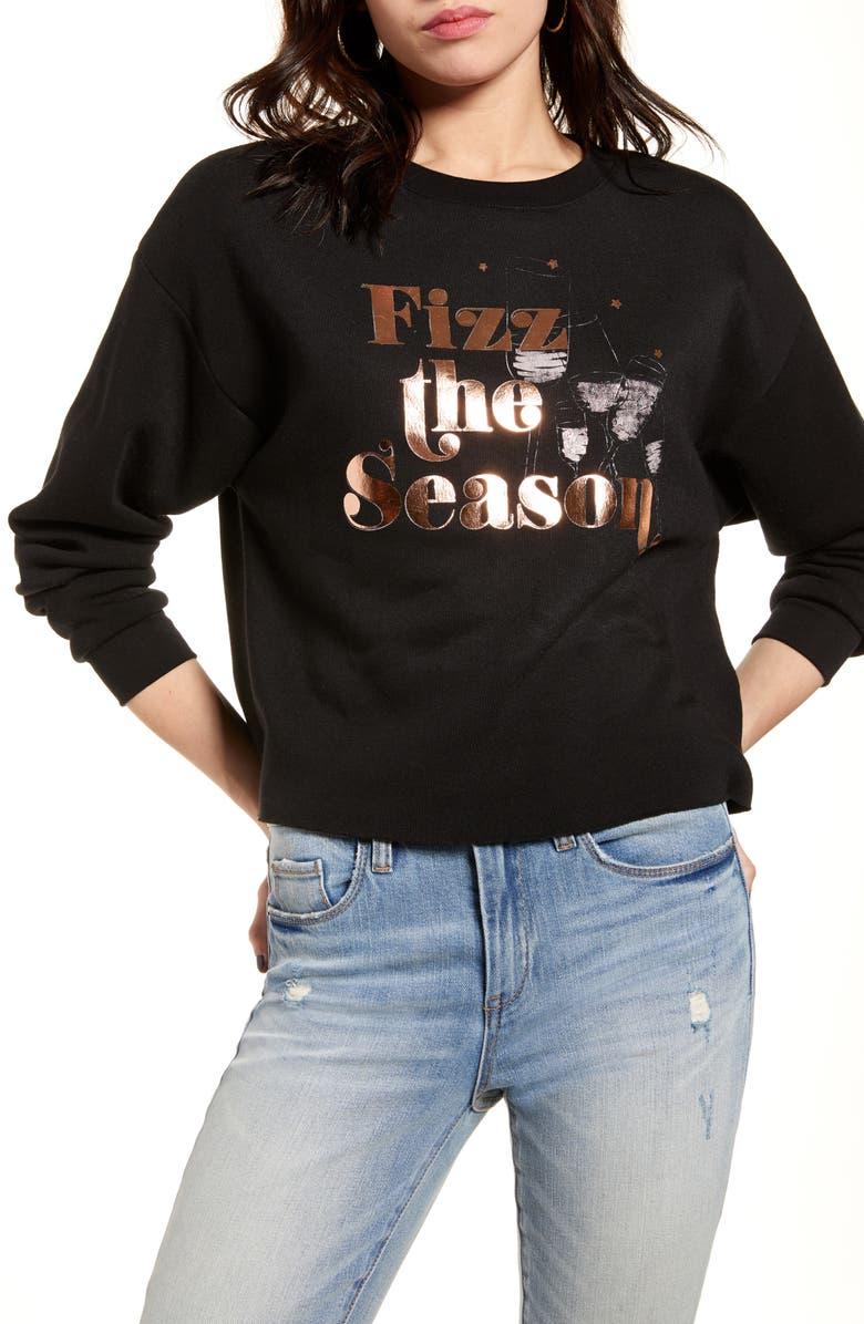 BP. Fizz the Season Graphic Sweatshirt, Main, color, BLACK FIZZ THE SEASON