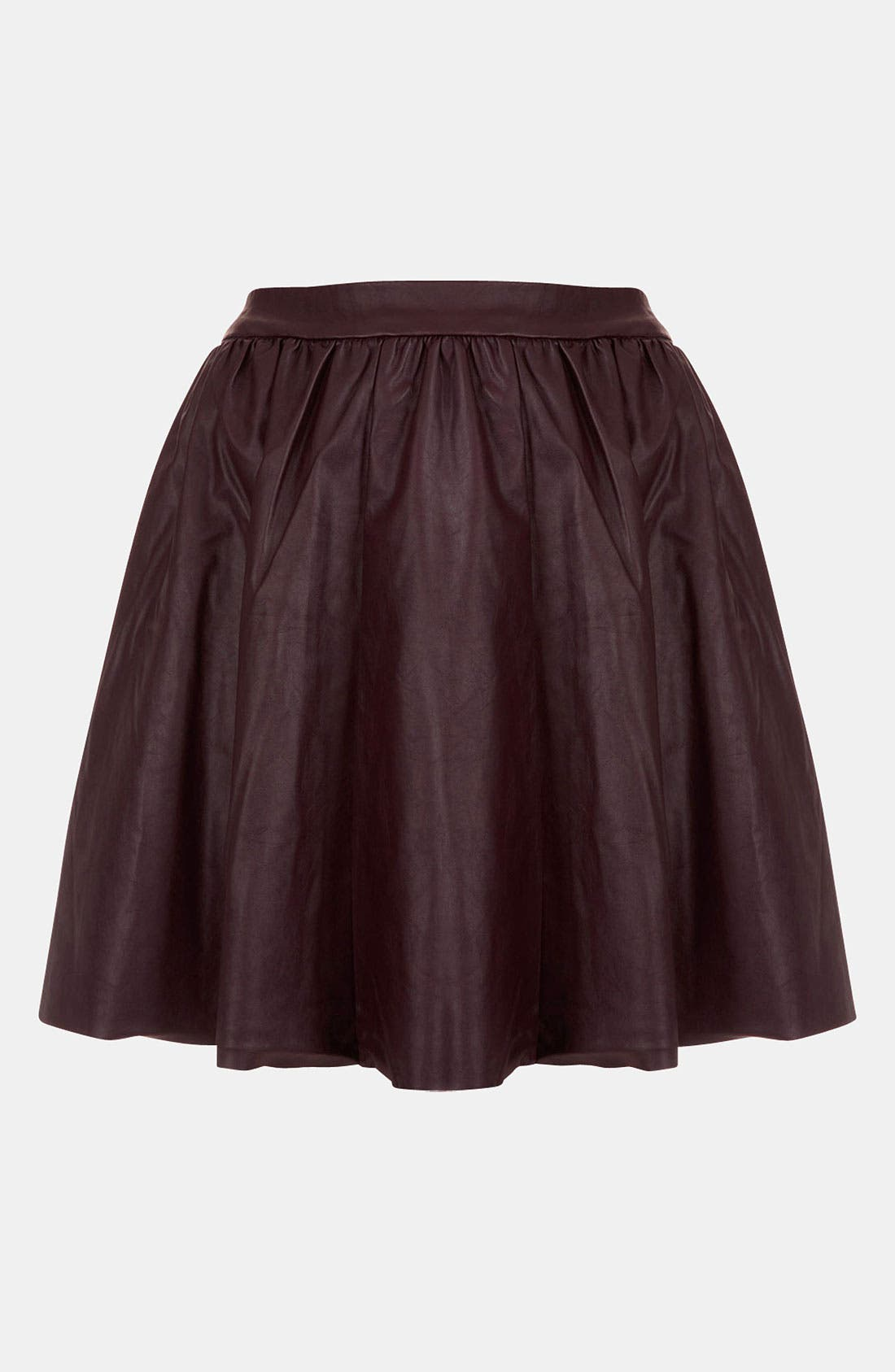 ,                             'Andie' Faux Leather Skater Skirt,                             Main thumbnail 4, color,                             930