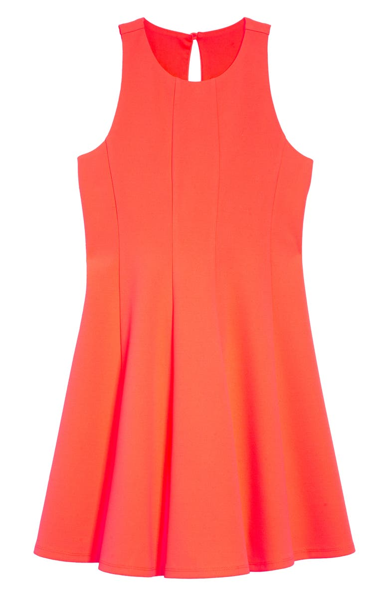 LOVE, NICKIE LEW Swing Dress, Main, color, NEON CORAL