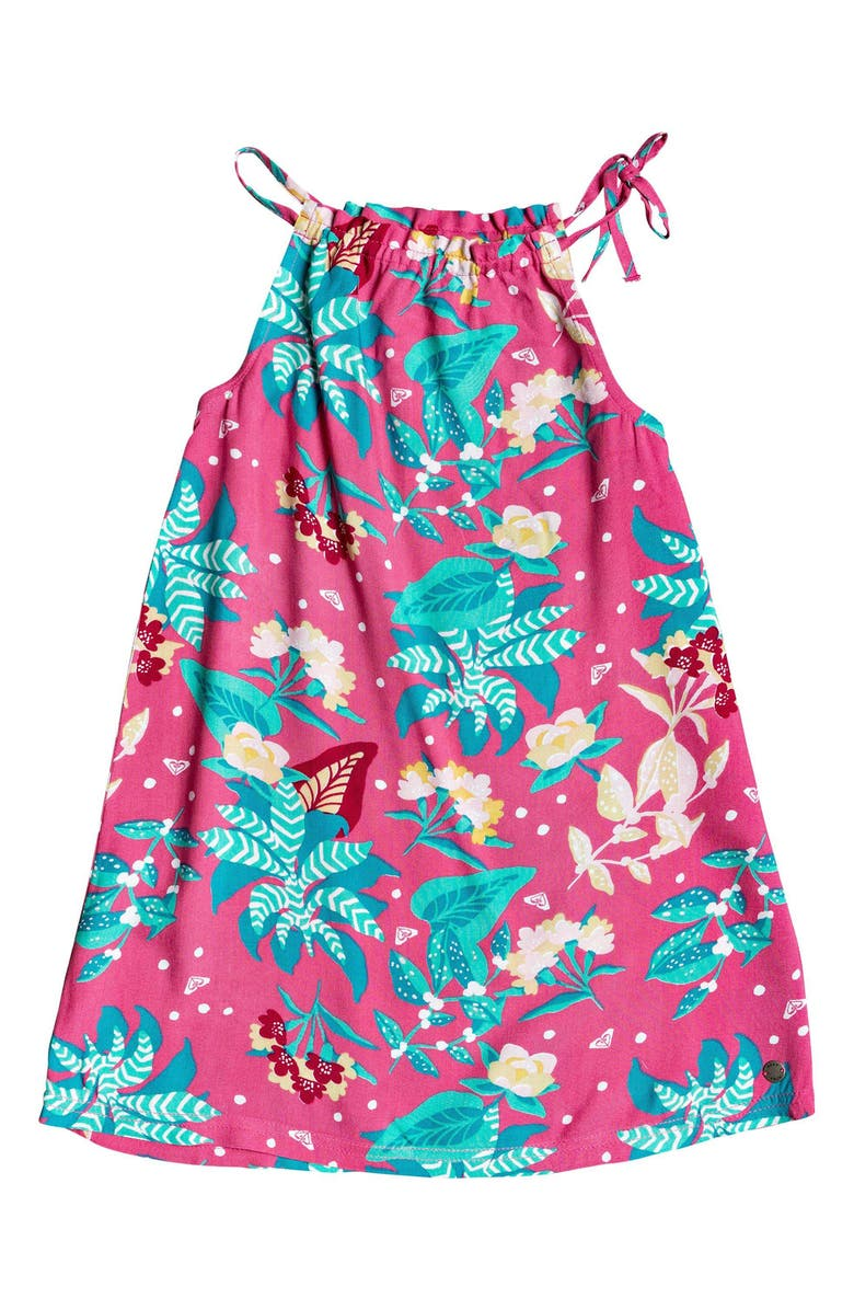 ROXY Amazing Trip Woven Dress, Main, color, PINK FLAMBE SUNNYPLACE