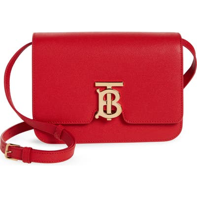 Burberry Small Tb Monogram Grainy Leather Shoulder Bag -