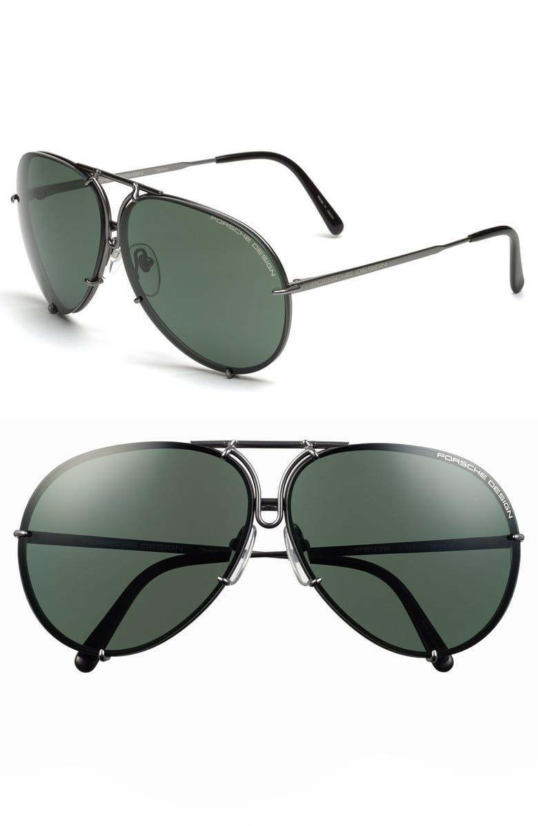 PORSCHE DESIGN 'P8478' 66mm Aviator Sunglasses, Main, color, 020