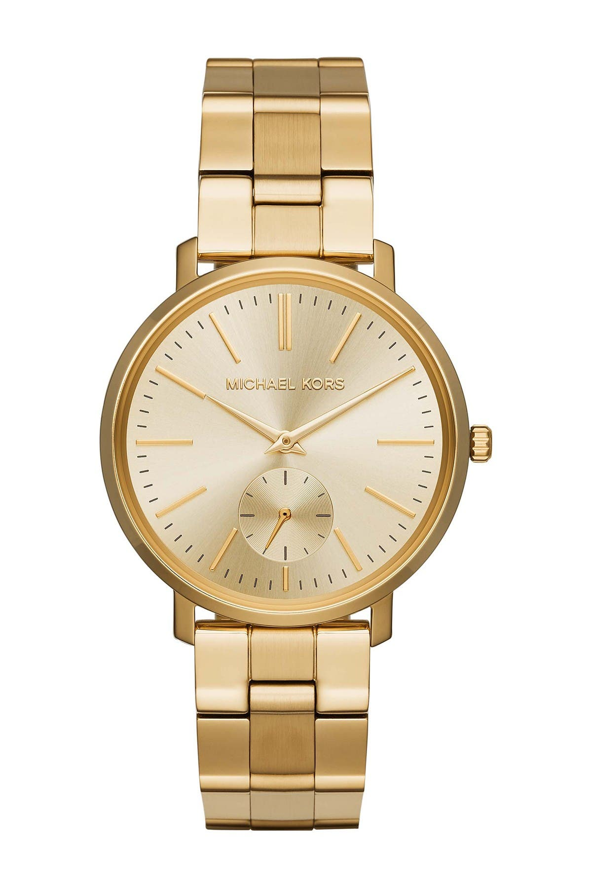 Image of MICHAEL Michael Kors Women's Jaryn Gold-Tone Stainless Steel Watch, 38mm