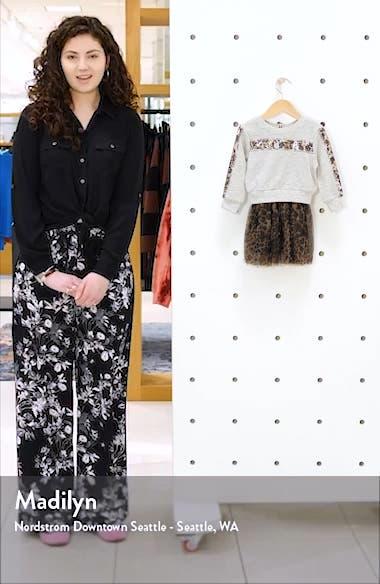 Leopard Detail Two-Piece Tutu Dress, sales video thumbnail