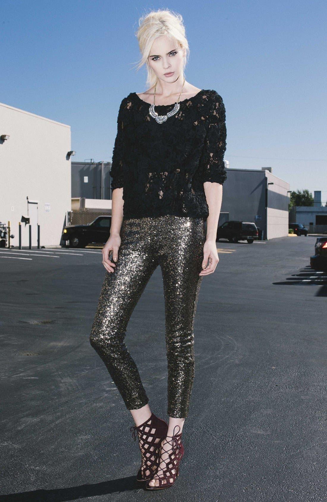,                             'Shasta' Sequin Leggings,                             Alternate thumbnail 8, color,                             710