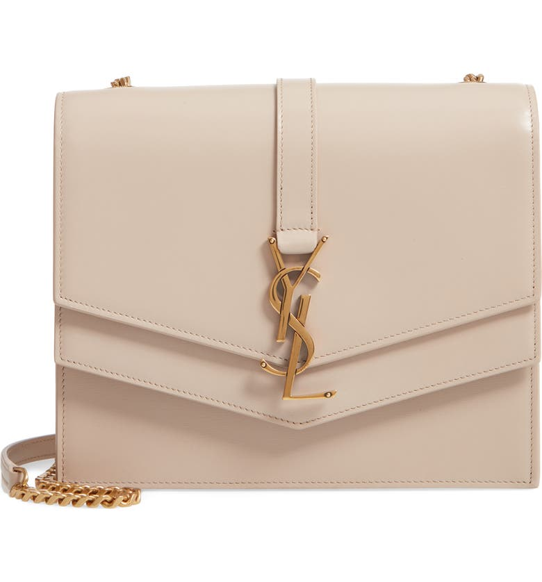 SAINT LAURENT Sulpice Leather Shoulder Bag, Main, color, 250