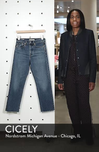 Wedgie Raw Hem High Waist Straight Leg Jeans, sales video thumbnail