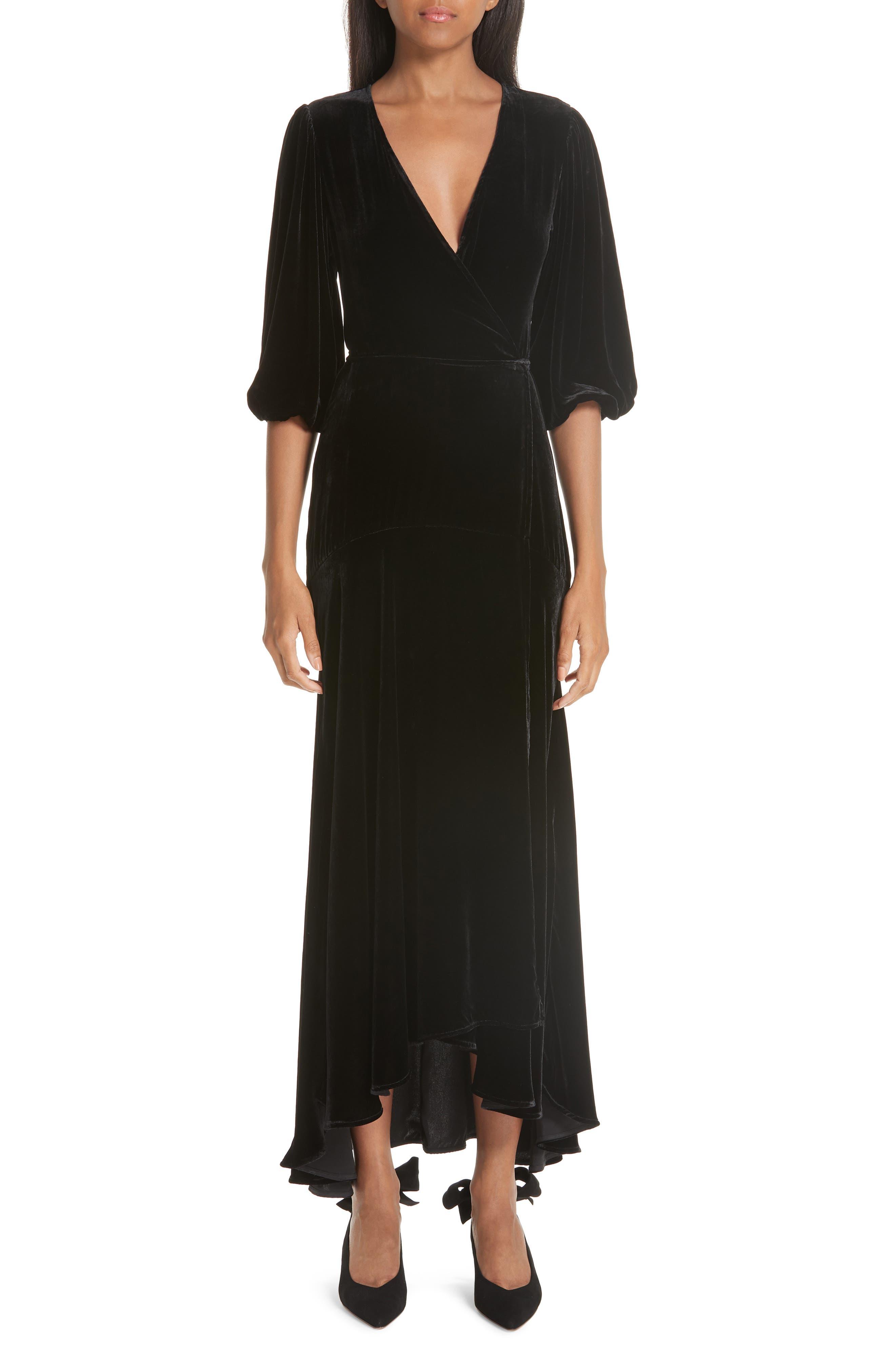 Ganni Velvet Wrap Dress