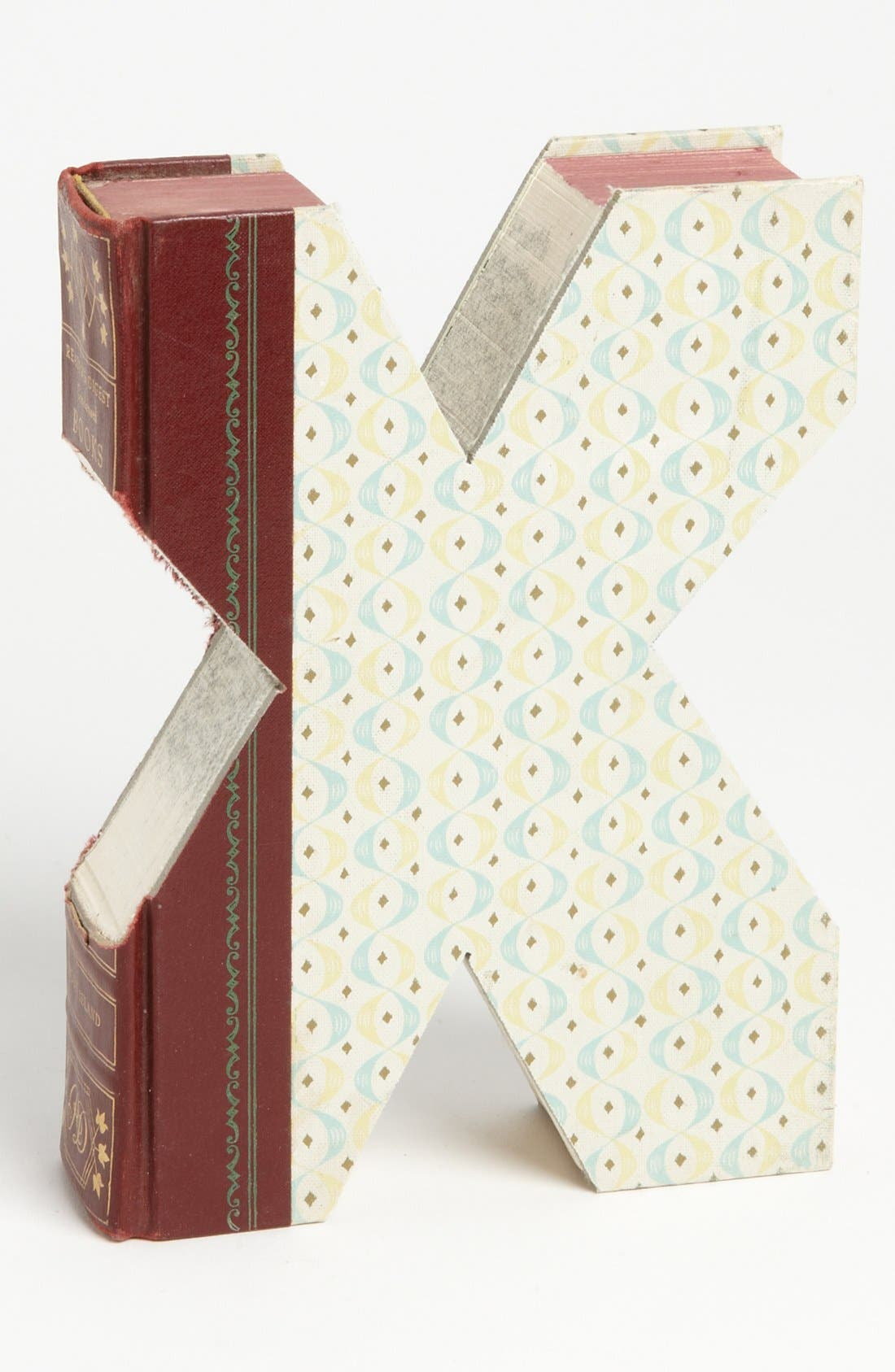 ,                             'One of a Kind Letter' Hand-Carved Recycled Book Shelf Art,                             Main thumbnail 101, color,                             230
