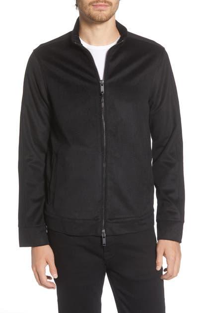 John Varvatos Anaheim Felted Jacket In Black