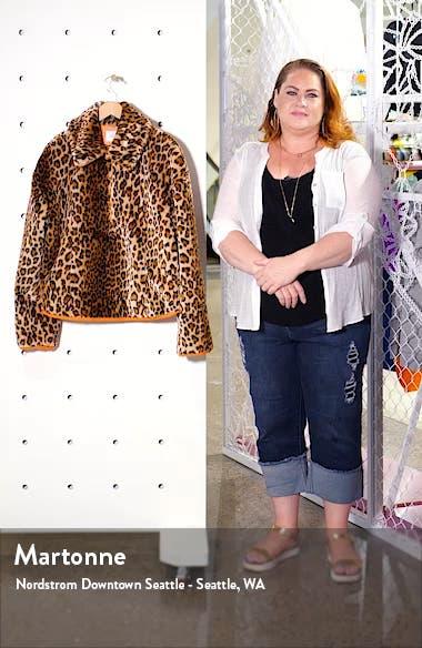 Leopard Print Half Zip Sweatshirt, sales video thumbnail