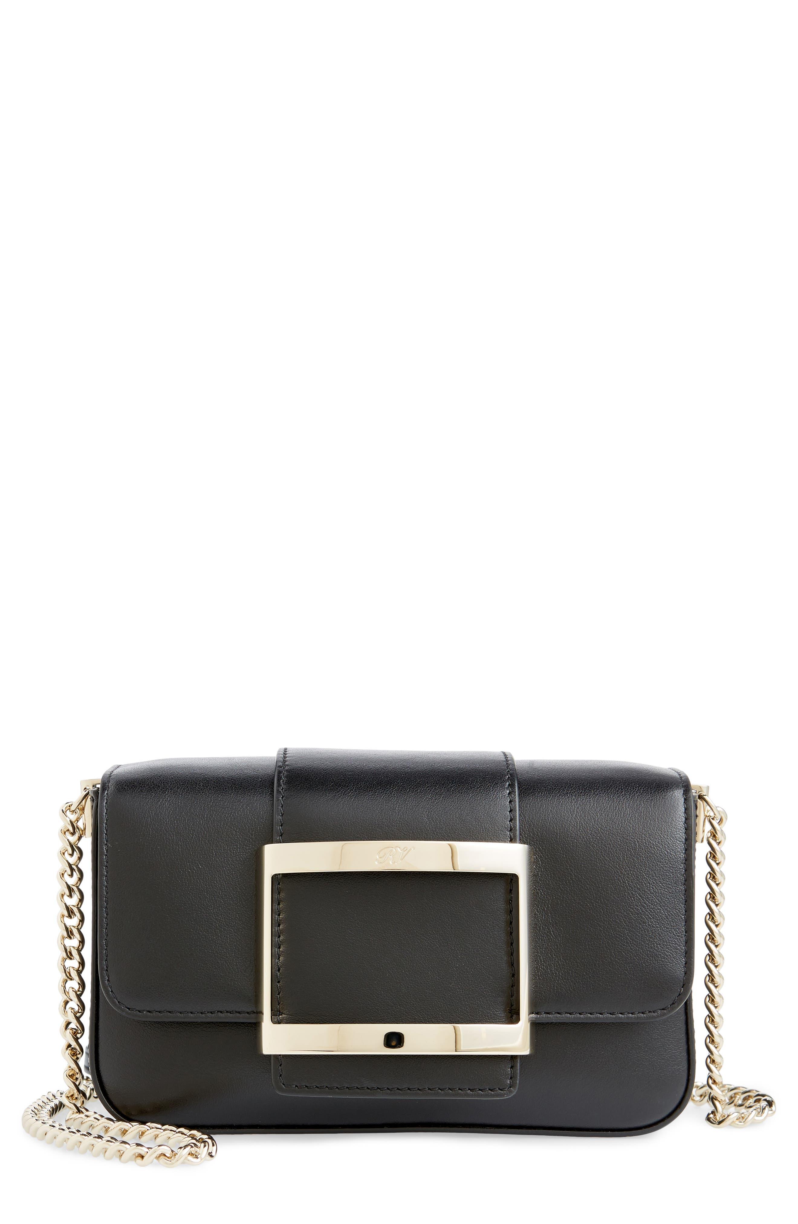 Roger Vivier Micro Très Vivier Calfskin Leather Crossbody Bag | Nordstrom