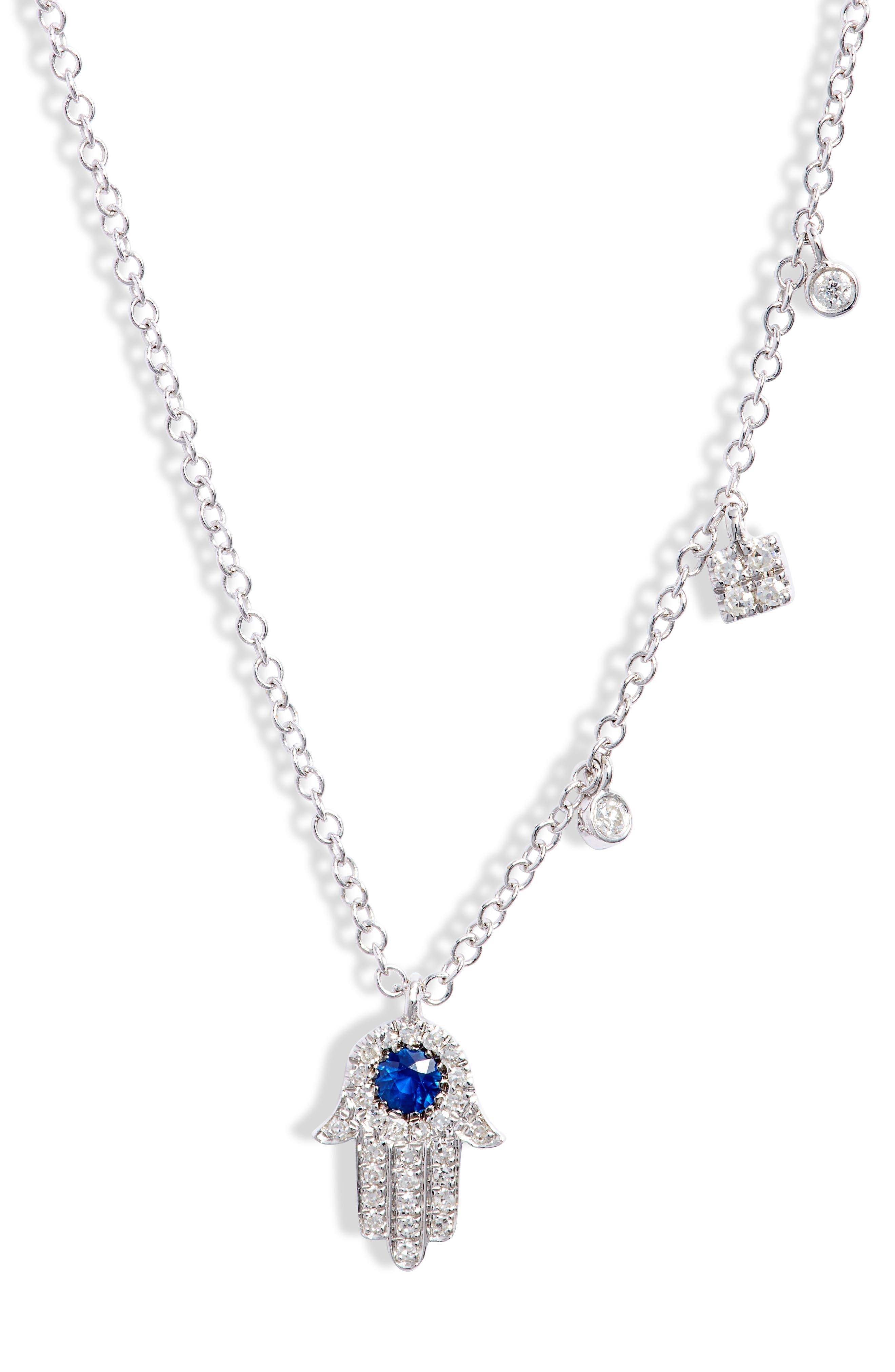 Sapp Hamsa Pendant Necklace