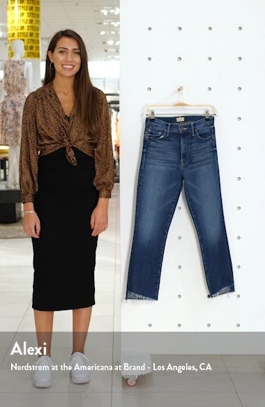 The Insider High Waist Crop Step Fray Jeans, sales video thumbnail