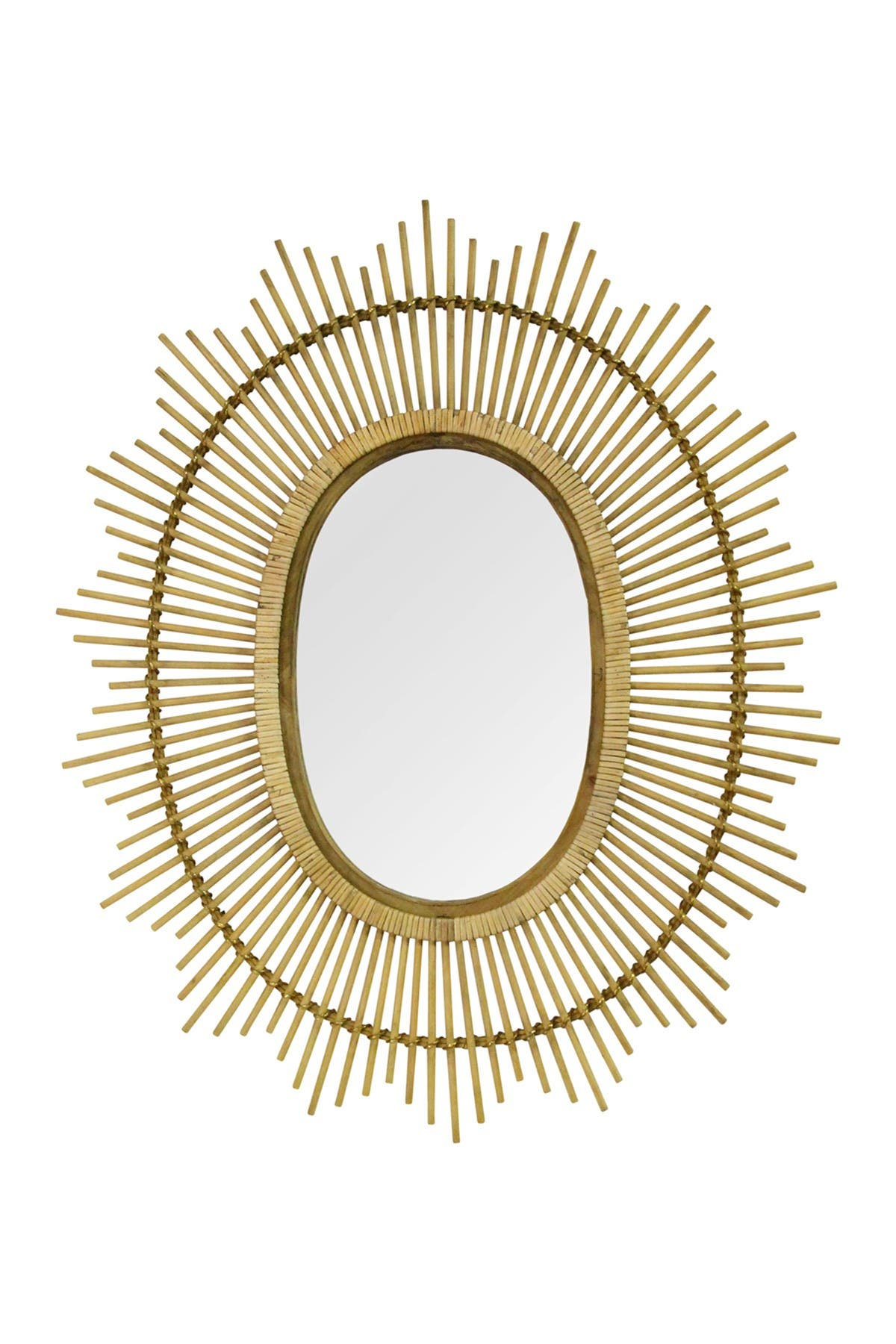 Stratton Home Light Brown Kelly Bamboo Oval Wall Mirror at Nordstrom Rack
