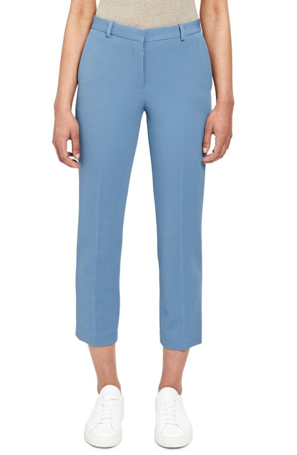 Theory Pants FLAT FRONT CROP TAILORED TROUSERS