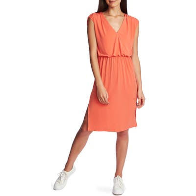 1.state V-Neck Sheath Dress, Coral