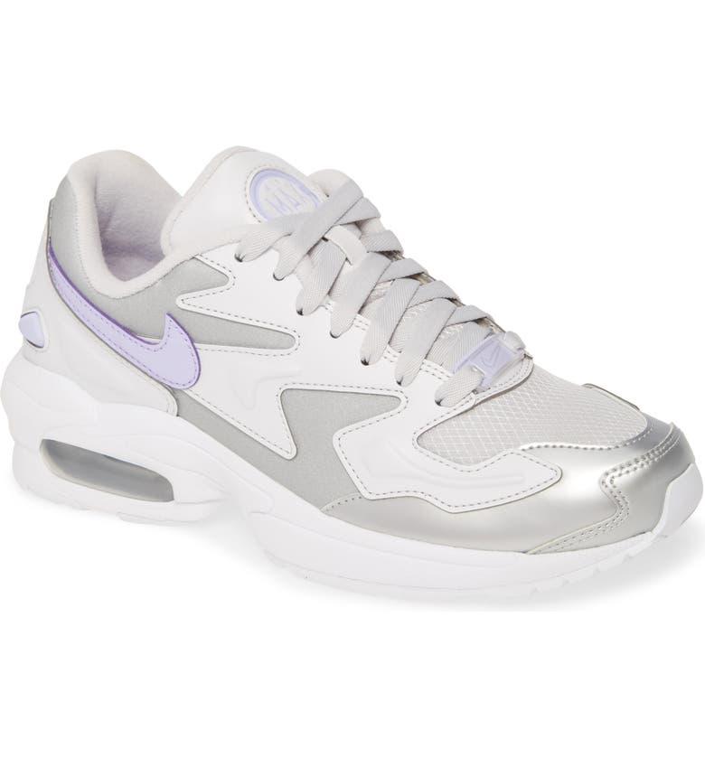 NIKE Air Max2 Light SE Sneaker, Main, color, VAST GREY/ PURPLE/ METALLIC