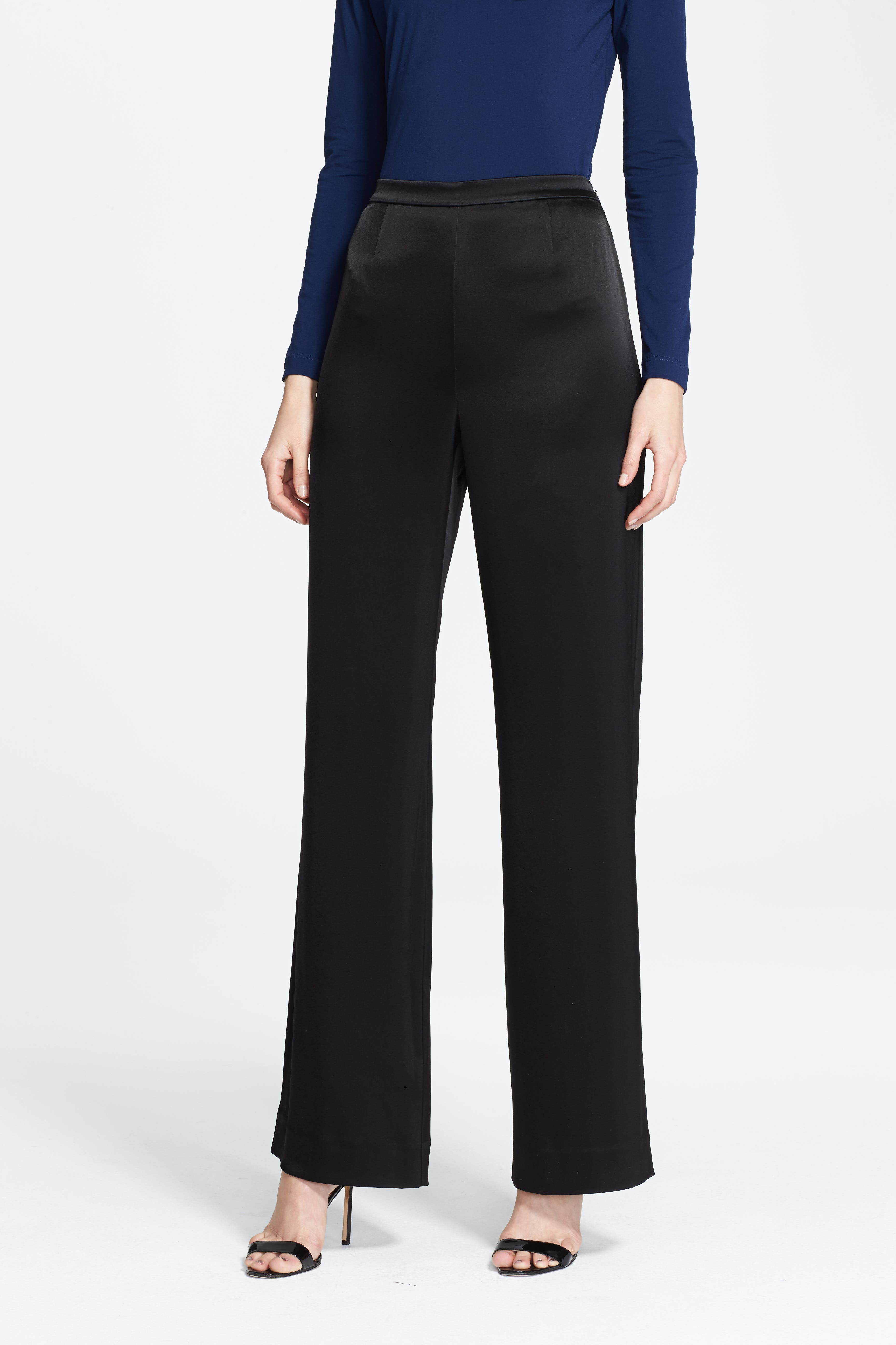Women's St. John Collection 'Kate' Liquid Satin Pants