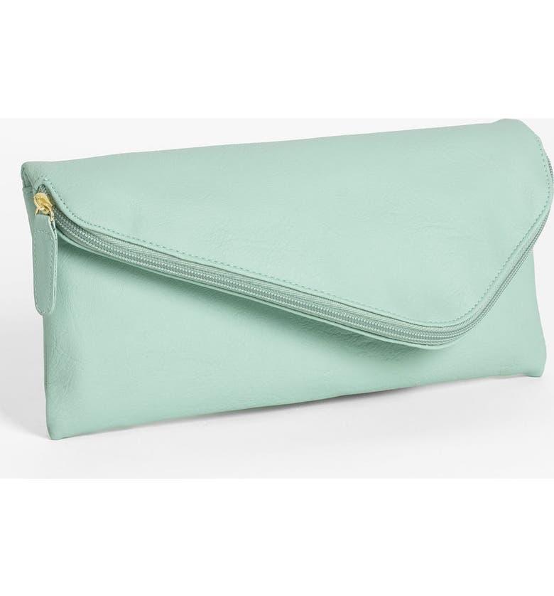 LULU Zip Top Envelope Clutch, Main, color, 315