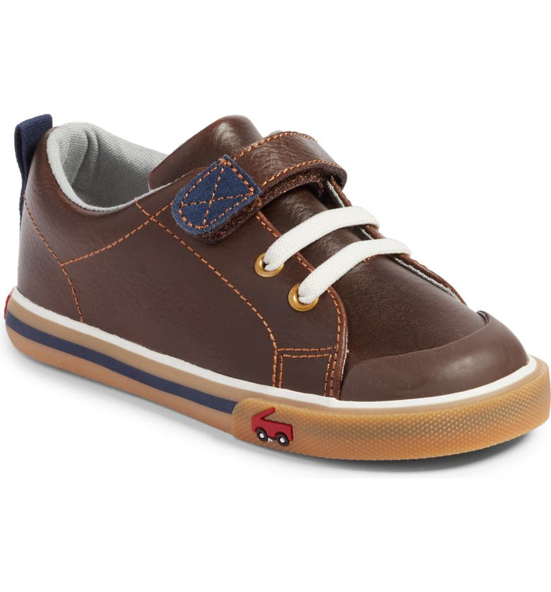 Stevie II Sneaker, Main, color, BROWN LEATHER