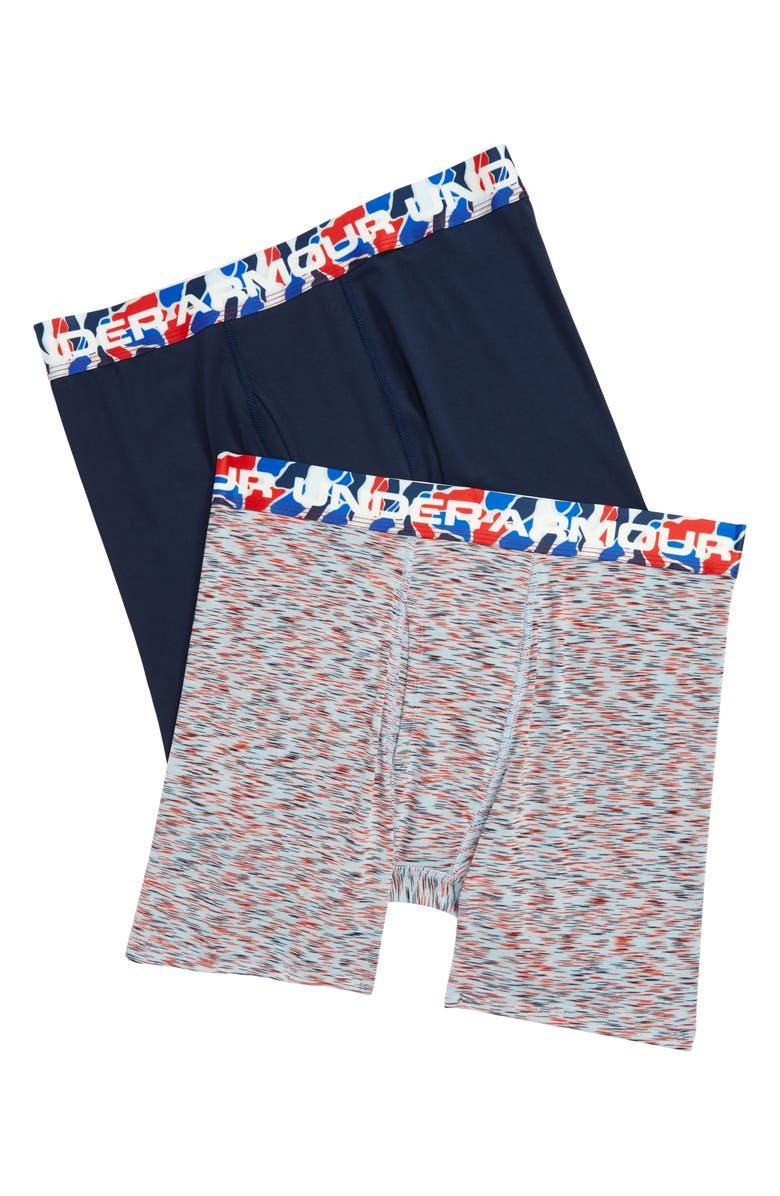 UNDER ARMOUR Diverge Twist Boxerjock<sup>®</sup> 2-Pack Boxer Briefs, Main, color, RIFT BLUE