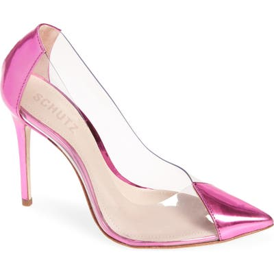 Schutz Cendi Transparent Pump, Pink