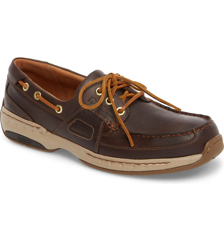 DUNHAM LTD Water Resistant Boat Shoe, Main, color, TAN LEATHER