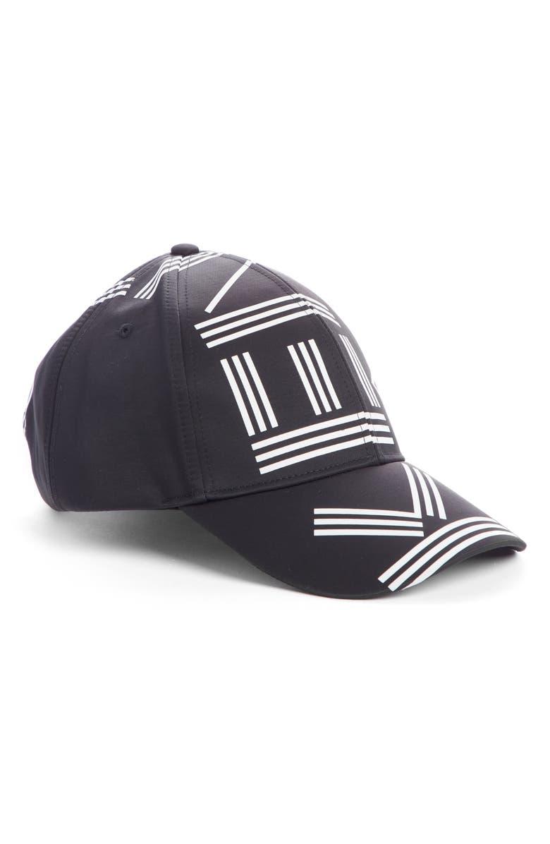 KENZO Logo Letters Baseball Cap, Main, color, 001