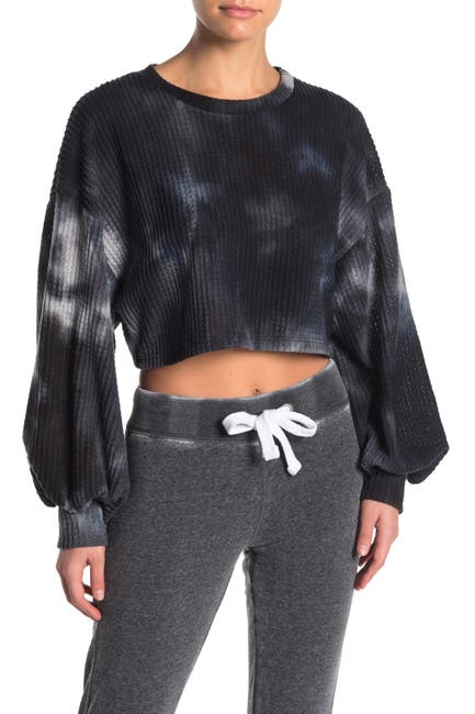 Image of Electric Yoga Kate Waffle Knit Tie Dye Top