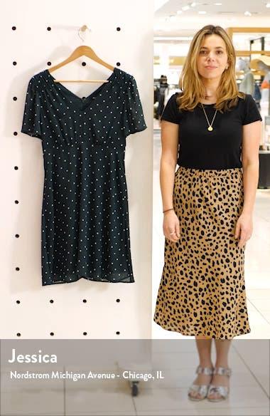 Dot Smocked Shoulder Dress, sales video thumbnail