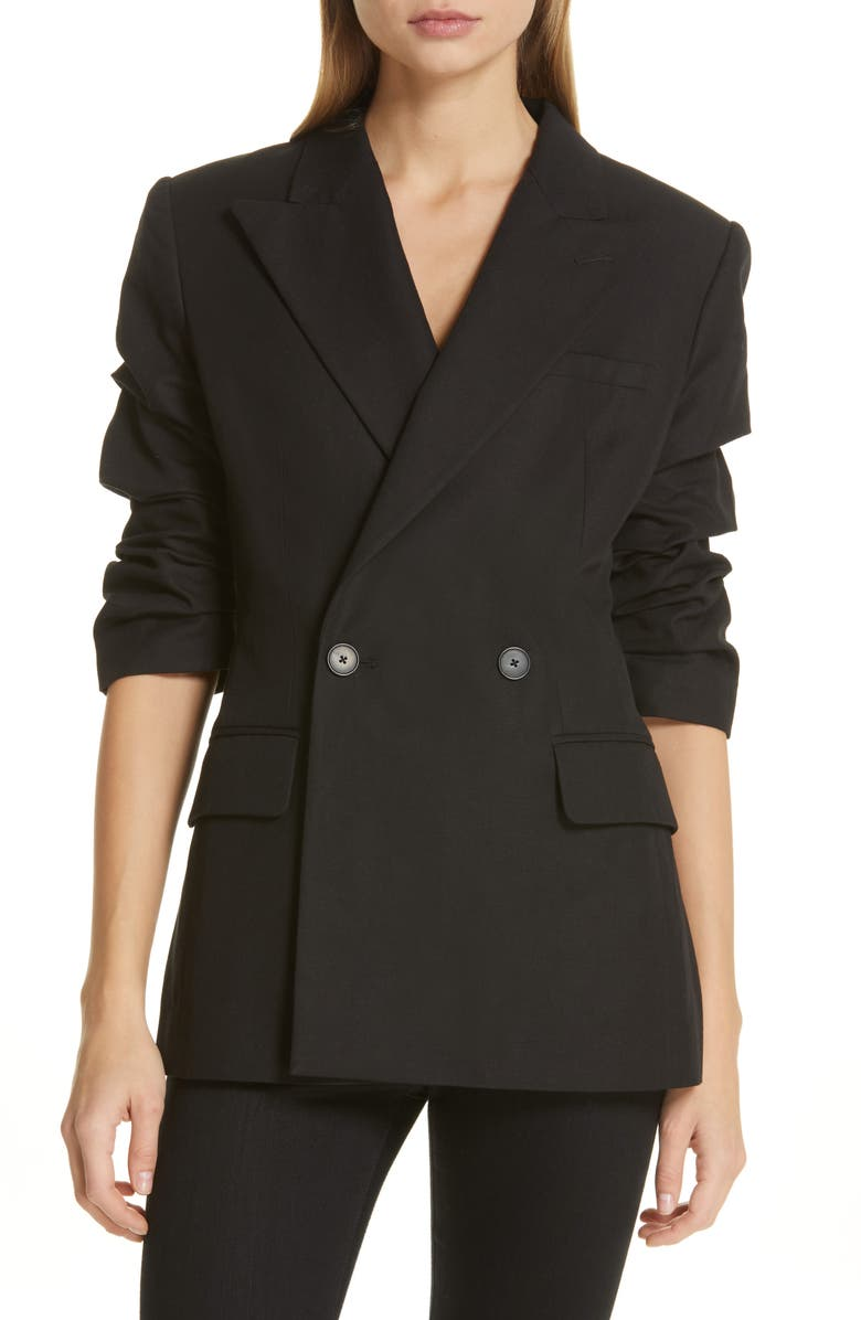 ROBERT RODRIGUEZ Kelly Ruched Sleeve Jacket, Main, color, 001