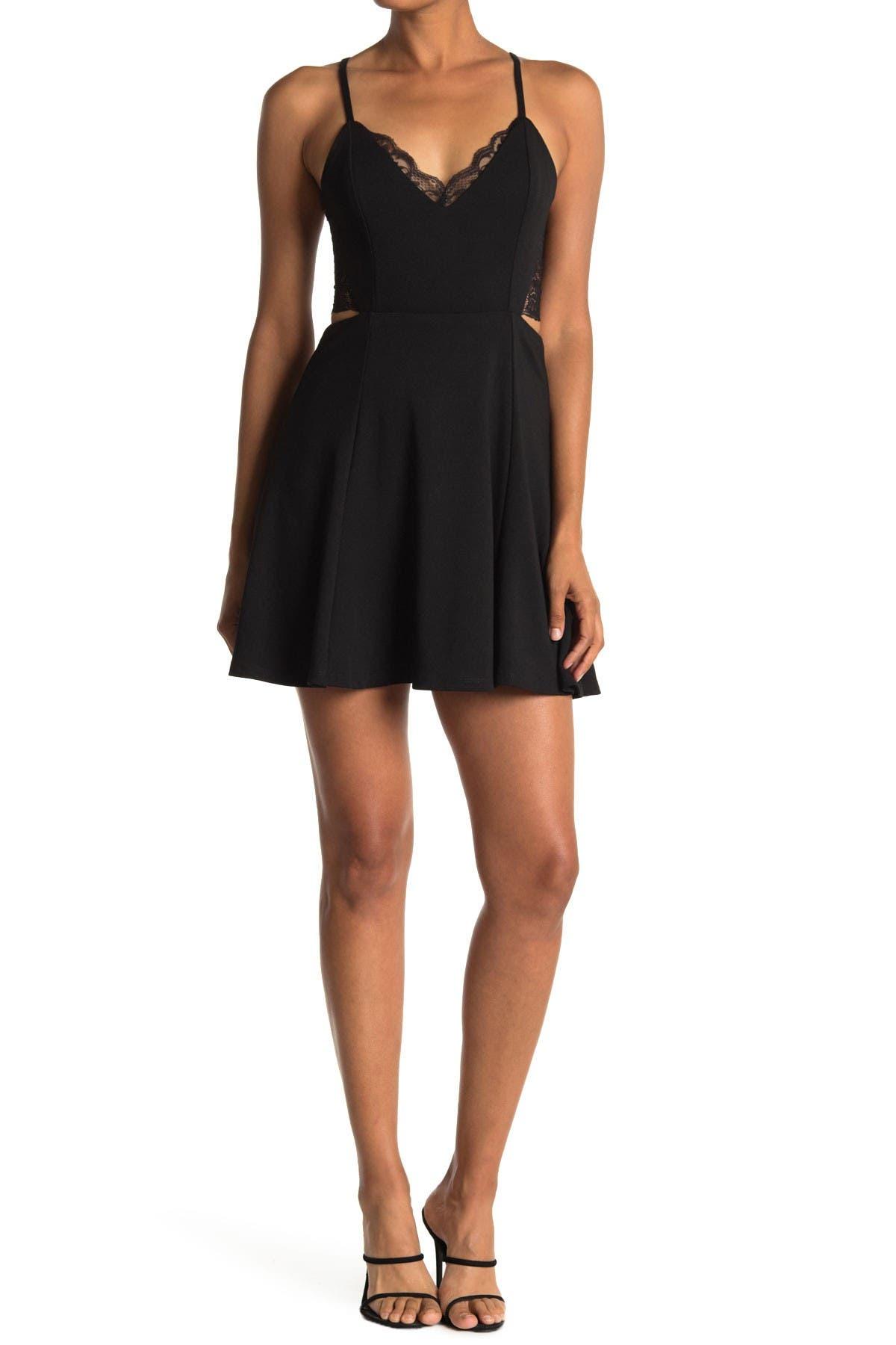 Image of Lush Back Lace Flare Dress