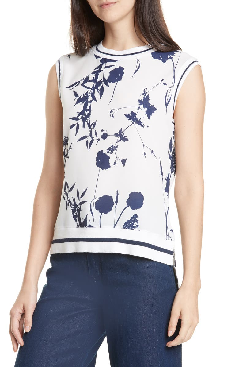 TED BAKER LONDON Miha Bluebell Top, Main, color, 110