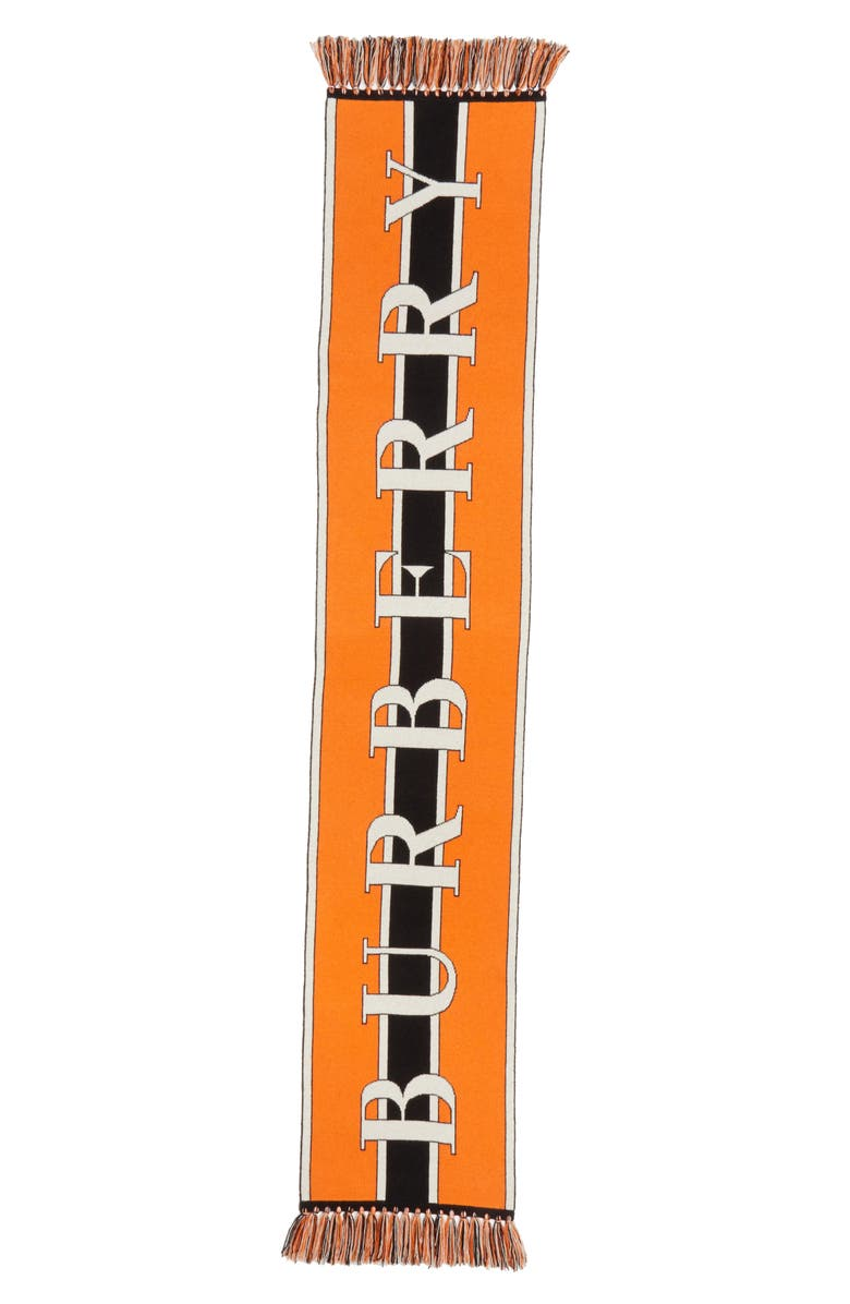 BURBERRY Logo Knit Cashmere Scarf, Main, color, MULTICOLOR