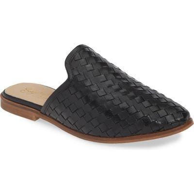 Seychelles Knickknack Woven Loafer Mule- Black