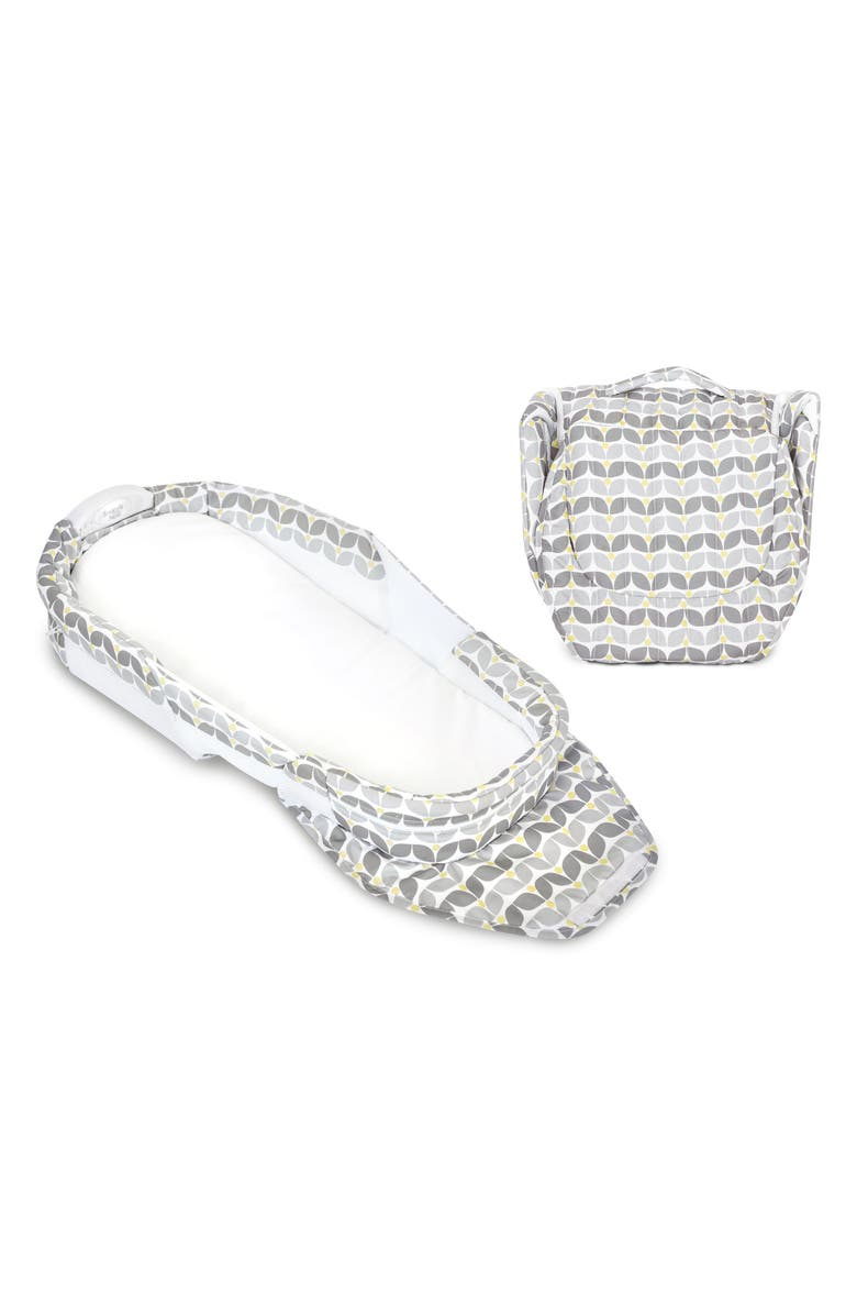 BABY DELIGHT Snuggle Nest<sup>®</sup> Harmony Portable Infant Bed, Main, color, SILVER BLOSSOM