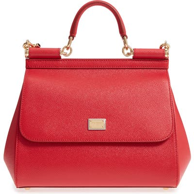 Dolce & gabbana Small Sicily Leather Satchel - Red