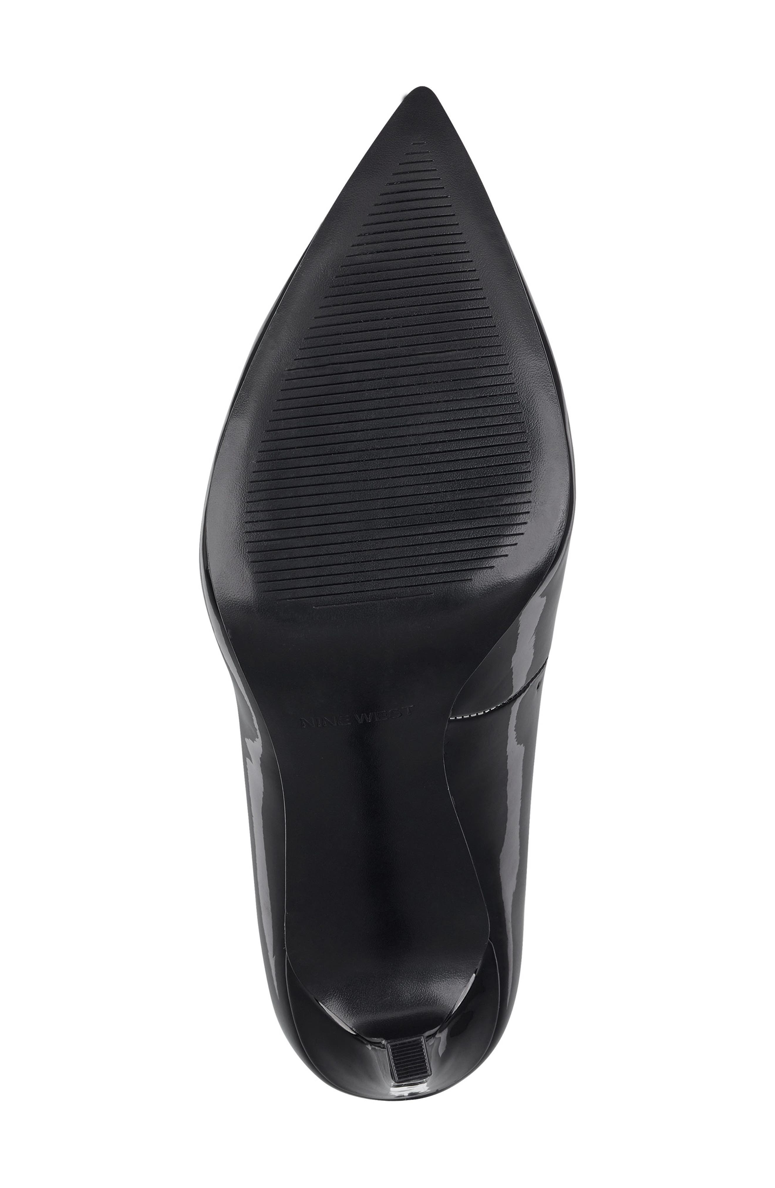 ,                             'Tatiana' Pointy Toe Pump,                             Alternate thumbnail 5, color,                             BLACK PATENT LEATHER