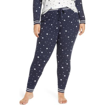 Plus Size Pj Salvage Dream Mix Thermal Pajama Pants, Blue