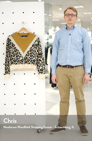 Leon Colorblock Leopard Jacquard Sweater, sales video thumbnail